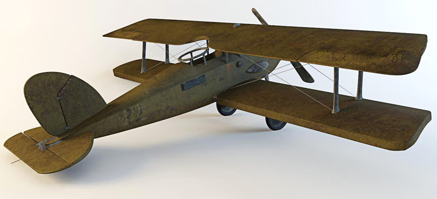Airplane WW1 royalty-free 3d model - Preview no. 5