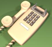 壁掛け電話 3d model