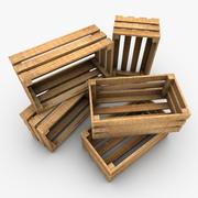 Drewniana skrzynia 3d model