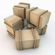 Wooden Crate 03 3d model