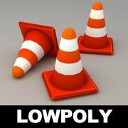 Дорожный конус lowpoly 3d model