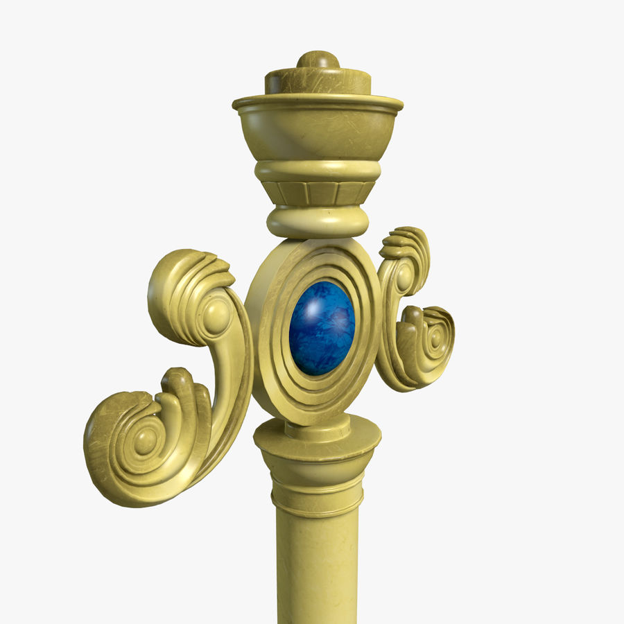 Staff royalty-free 3d model - Preview no. 2
