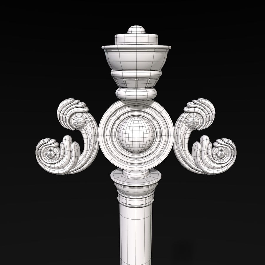 Staff royalty-free 3d model - Preview no. 6