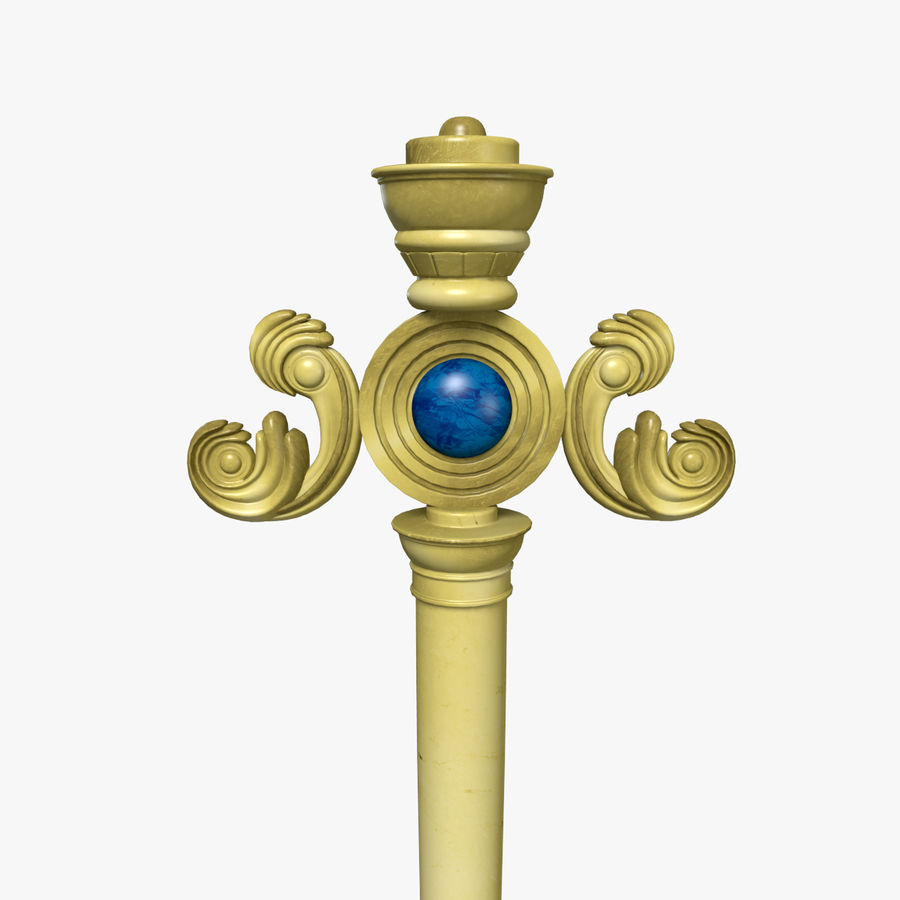 Staff royalty-free 3d model - Preview no. 1