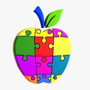 苹果拼图 3d model