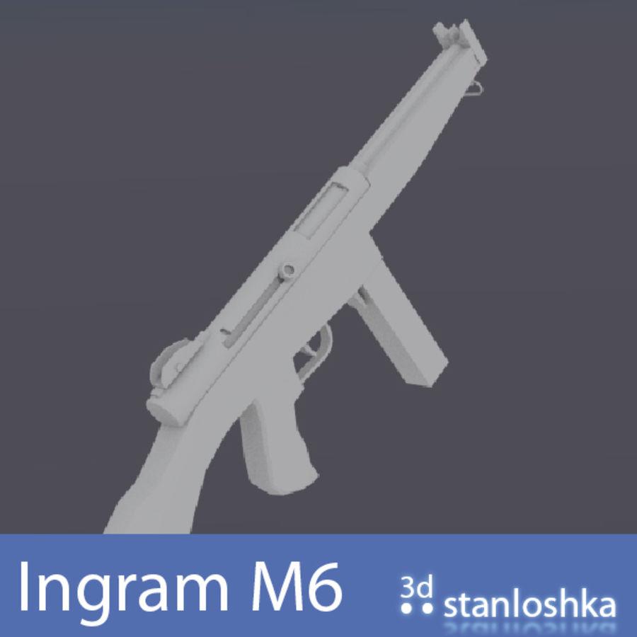 Fucile Ingram royalty-free 3d model - Preview no. 4