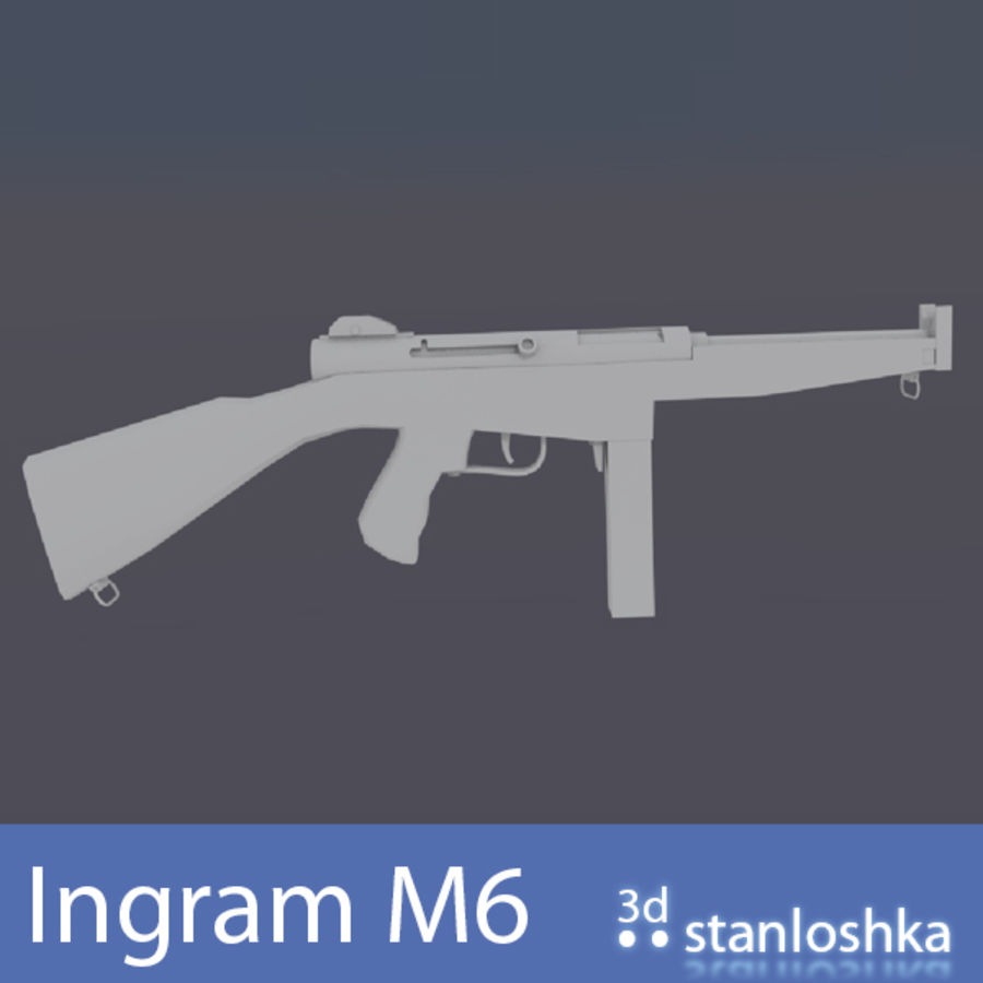 Fucile Ingram royalty-free 3d model - Preview no. 1