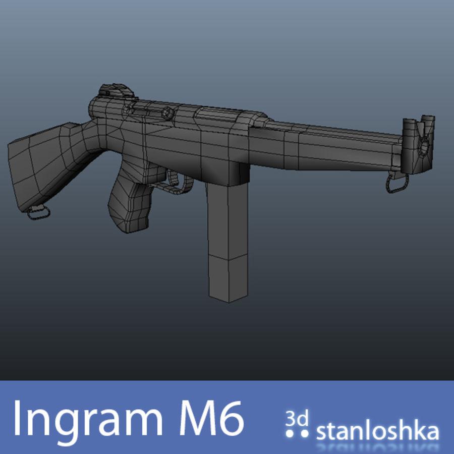 Fucile Ingram royalty-free 3d model - Preview no. 5