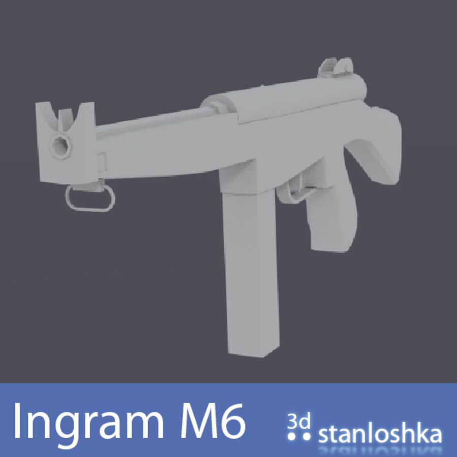 Fucile Ingram royalty-free 3d model - Preview no. 3