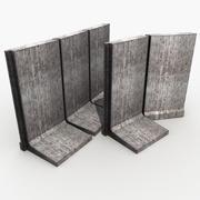 Barrière de béton 3d model