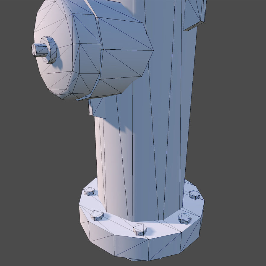 Fire Hydrant royalty-free 3d model - Preview no. 12