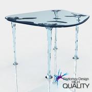 Tavolo in vetro moderno liquido 3d model