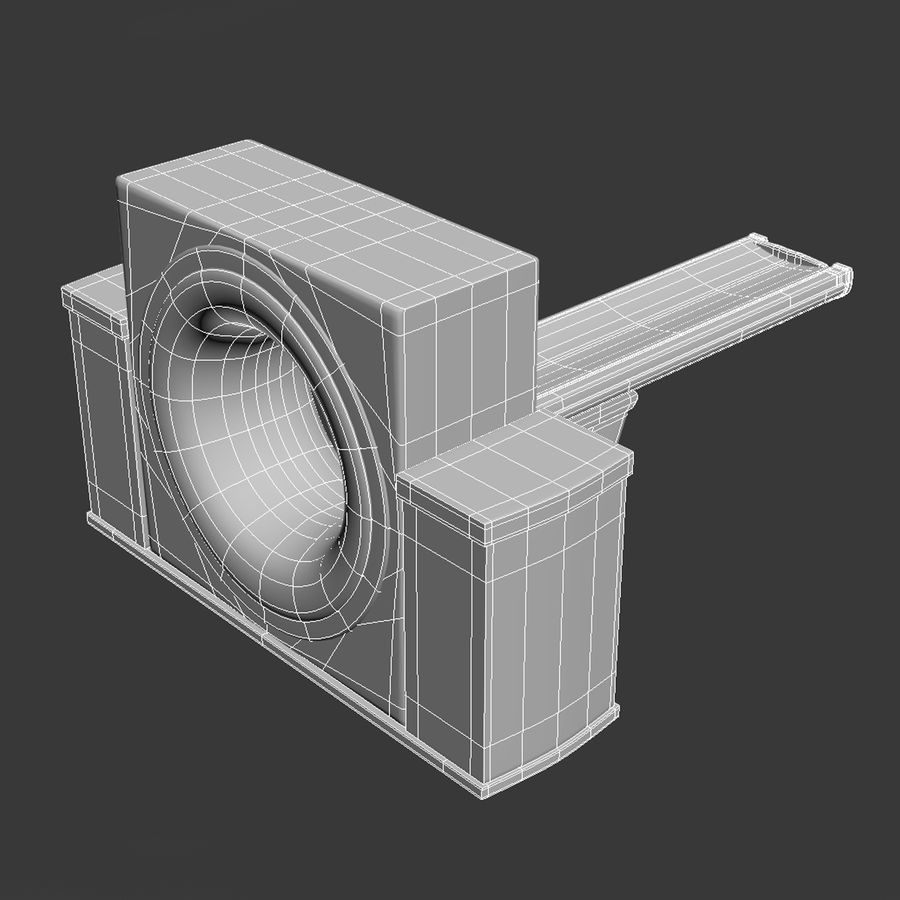CT-scanner royalty-free 3d model - Preview no. 10