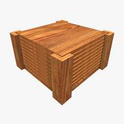 Wooden Coasters 3d model