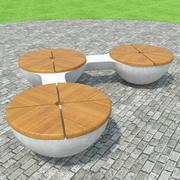 Potrójna ławka 3d model
