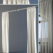 Long Curtains 3d model