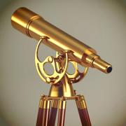 Télescope antique 3d model