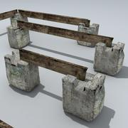 Temporary Road Barriers 3d model