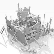 Ruined destroyed Building 3d model