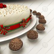 Brigadeiro de trufa de bolo e chocolate 3d model