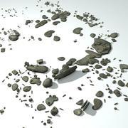 Montones de escombros modelo 3d