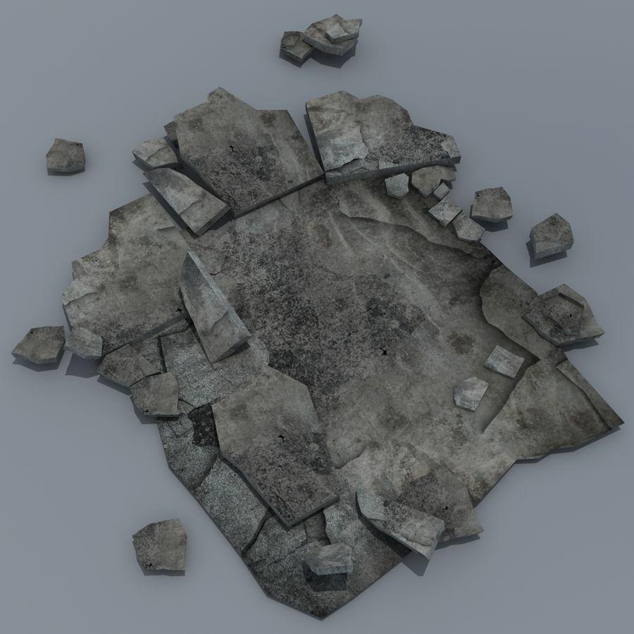 Concrete Rubble Pile royalty-free 3d model - Preview no. 2