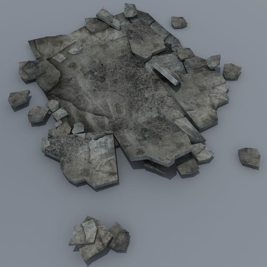 Concrete Rubble Pile royalty-free 3d model - Preview no. 1