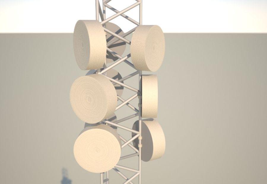 电信桅杆10米,33英尺 royalty-free 3d model - Preview no. 1
