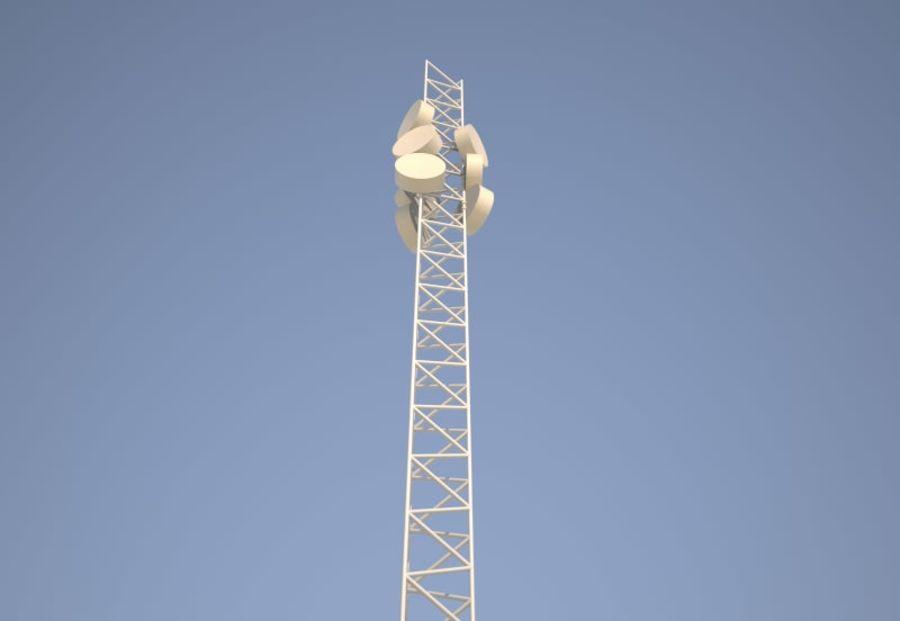 电信桅杆10米,33英尺 royalty-free 3d model - Preview no. 3