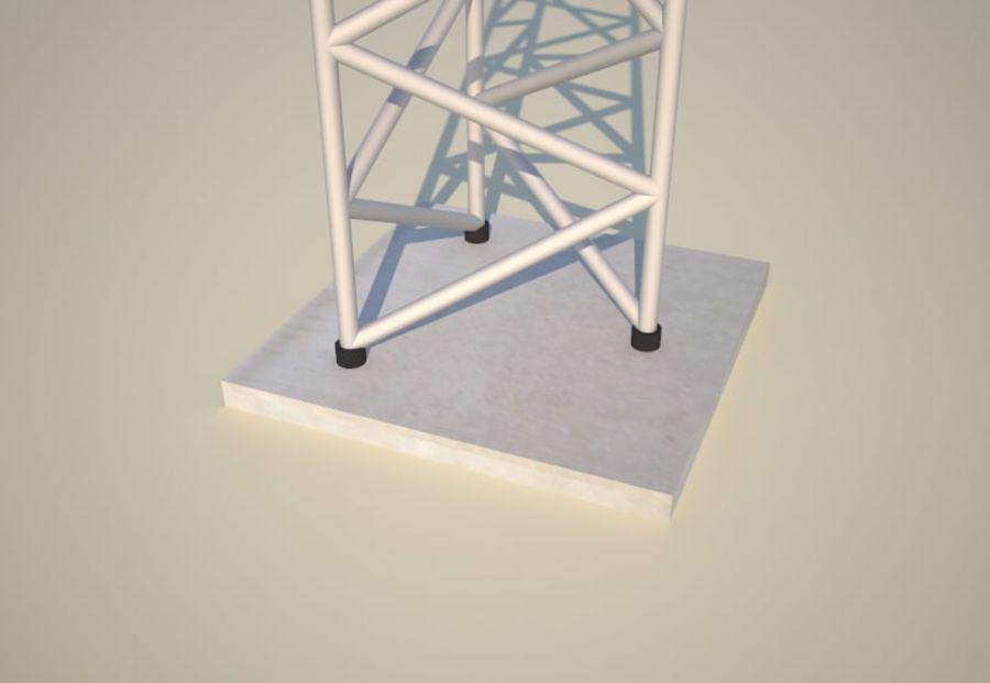 电信桅杆10米,33英尺 royalty-free 3d model - Preview no. 5