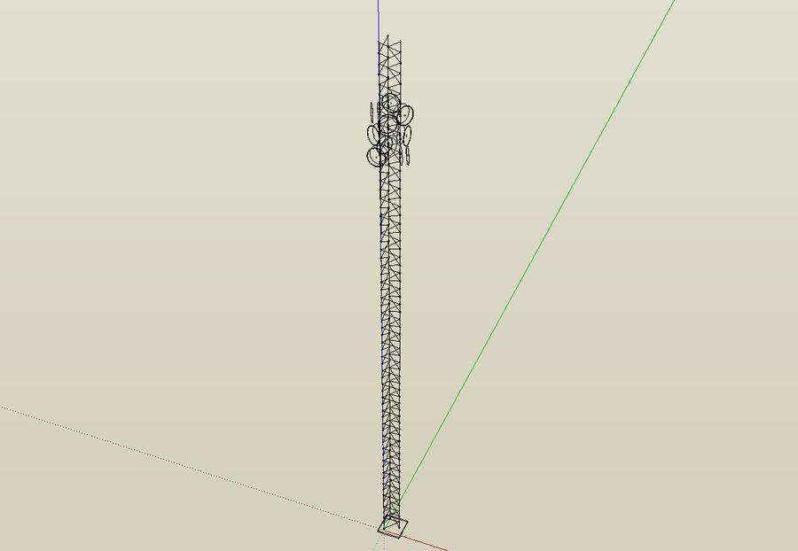 电信桅杆10米,33英尺 royalty-free 3d model - Preview no. 6