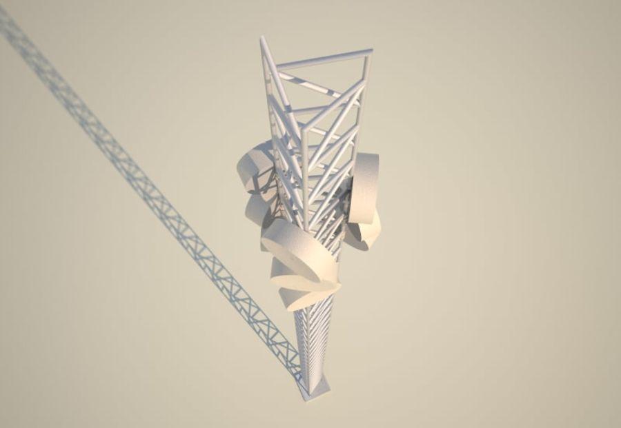 电信桅杆10米,33英尺 royalty-free 3d model - Preview no. 4