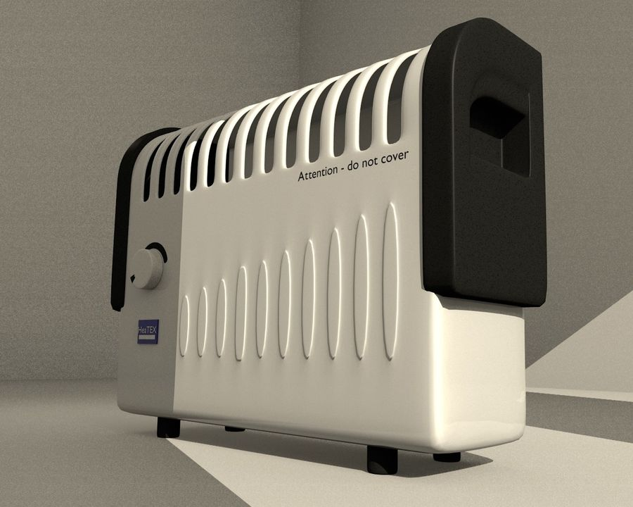 Electric Heater royalty-free 3d model - Preview no. 4