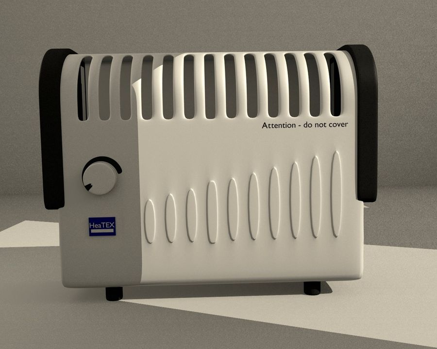 Electric Heater royalty-free 3d model - Preview no. 3