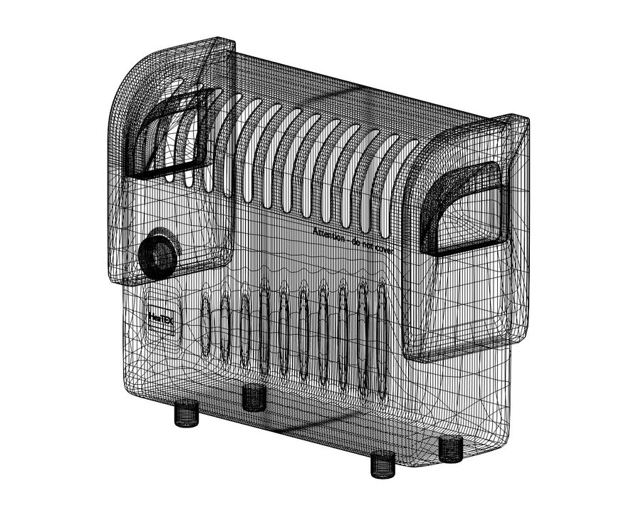 Electric Heater royalty-free 3d model - Preview no. 5