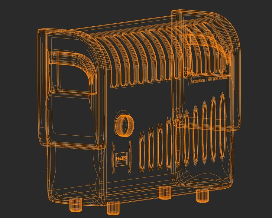 Electric Heater royalty-free 3d model - Preview no. 6