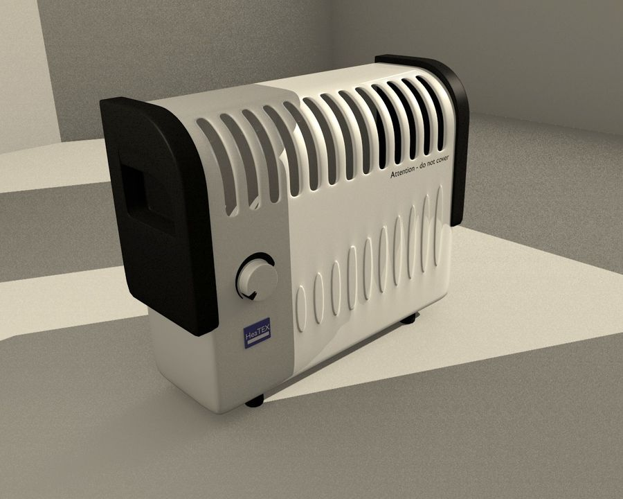 Electric Heater royalty-free 3d model - Preview no. 1