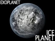 Alien Ice Planet 3d model