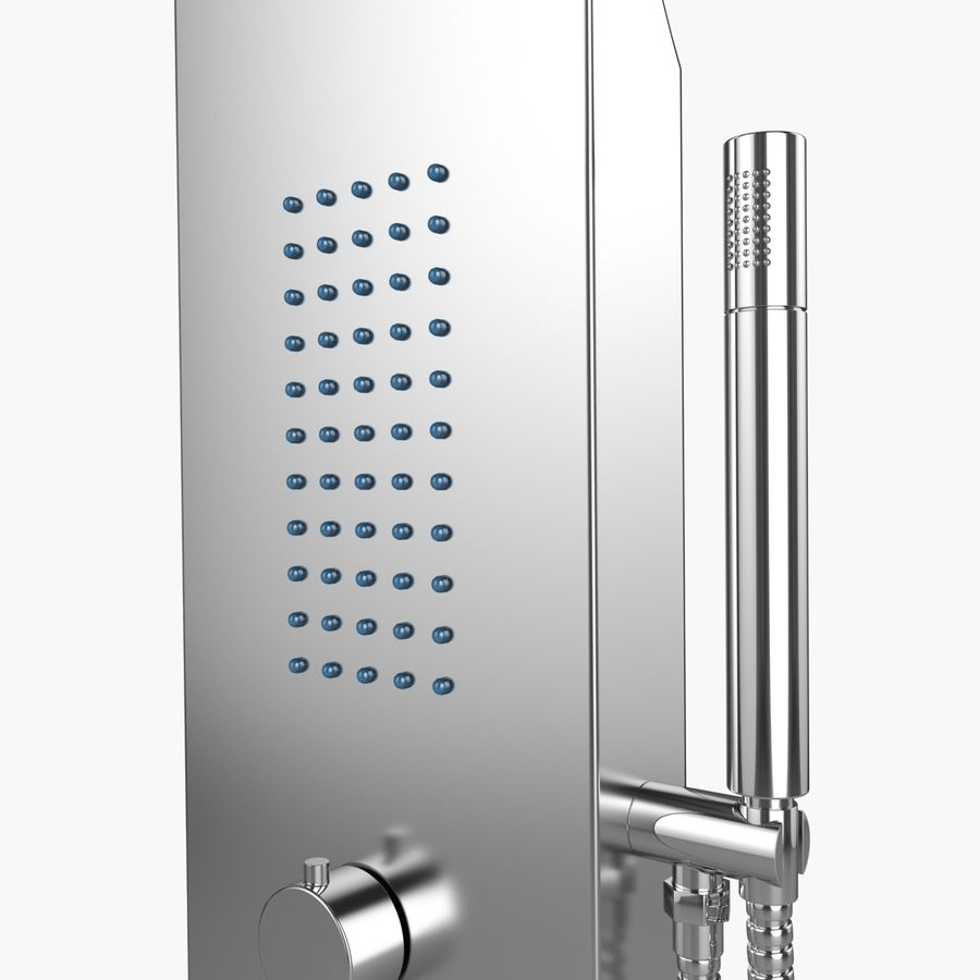 Dusche royalty-free 3d model - Preview no. 5