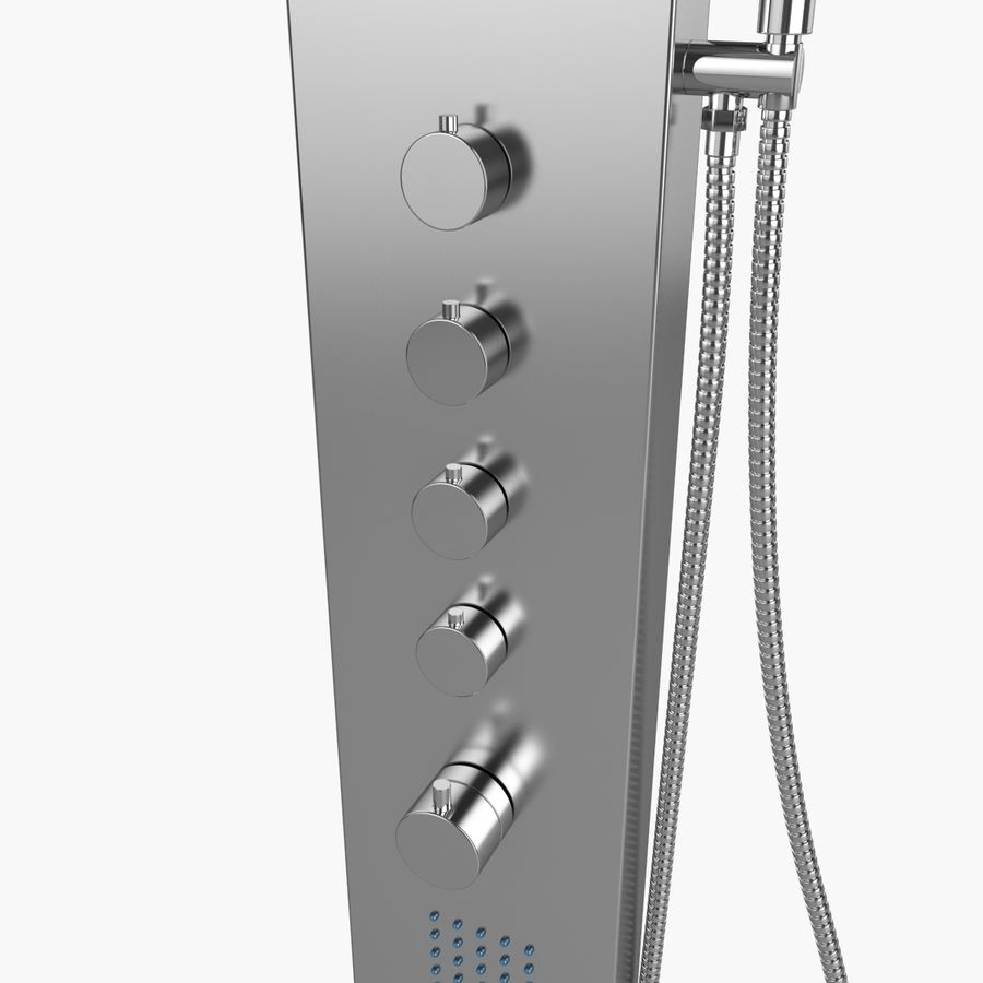 Dusche royalty-free 3d model - Preview no. 3
