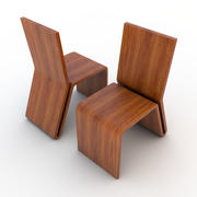 Wooden Chair 02 3d model