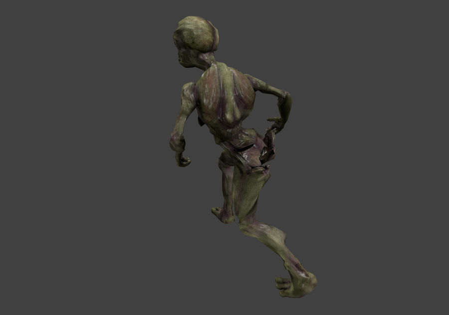 Alien- Game Ready royalty-free 3d model - Preview no. 22