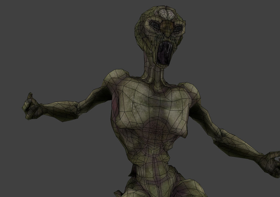 Alien- Game Ready royalty-free 3d model - Preview no. 17