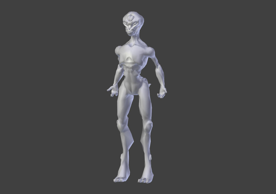 Alien- Game Ready royalty-free 3d model - Preview no. 6