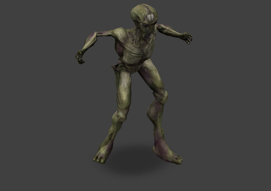 Alien- Game Ready royalty-free 3d model - Preview no. 24