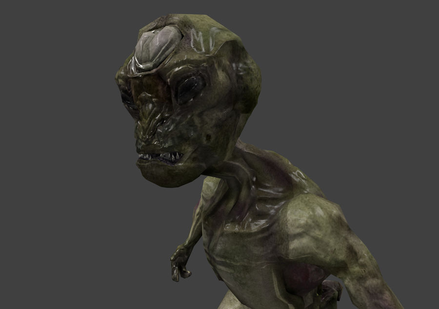 Alien- Game Ready royalty-free 3d model - Preview no. 3