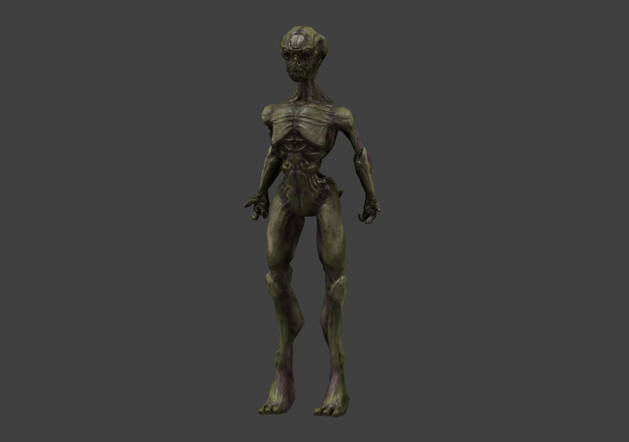Alien- Game Ready royalty-free 3d model - Preview no. 2