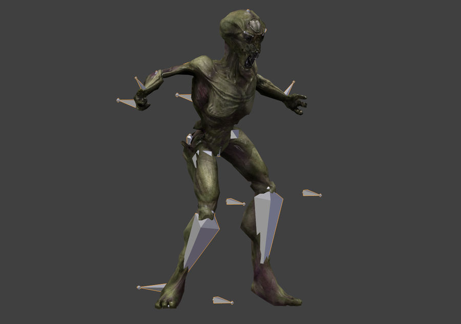 Alien- Game Ready royalty-free 3d model - Preview no. 27