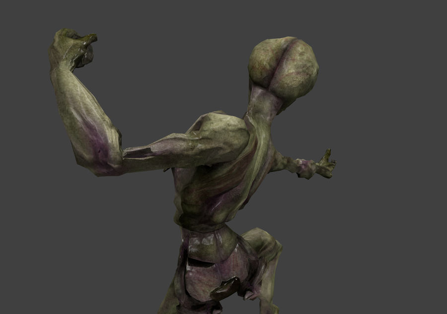 Alien- Game Ready royalty-free 3d model - Preview no. 26