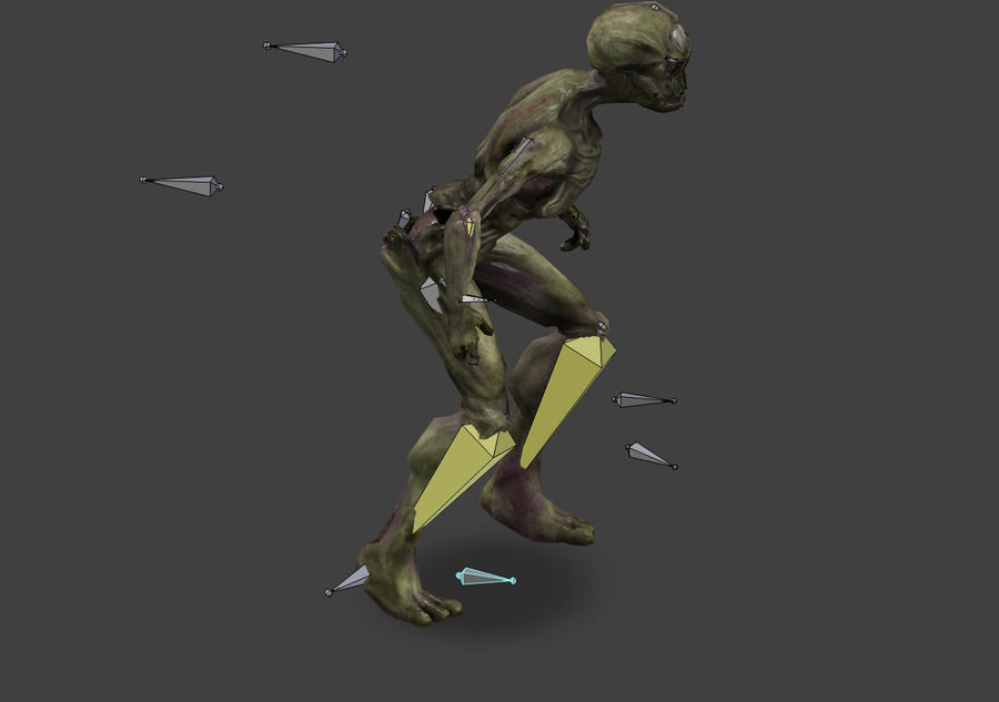 Alien- Game Ready royalty-free 3d model - Preview no. 19